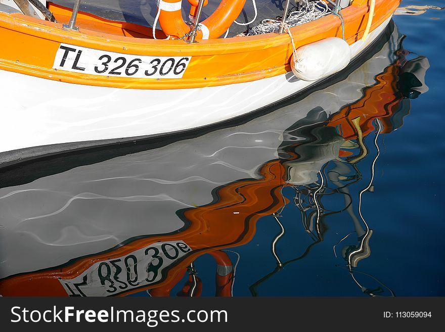 Water Transportation, Boat, Orange, Water