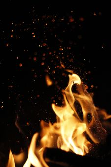 Free Flame, Fire, Darkness, Heat Stock Image - 113061001