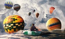 Free Hot Air Balloon, Hot Air Ballooning, Sky, Atmosphere Of Earth Stock Image - 113065231