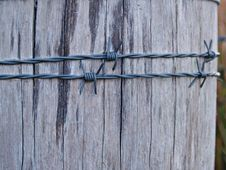 Free Wire Fencing, Wood, Barbed Wire, Iron Stock Photos - 113147143