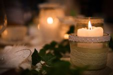 Free Candle, Lighting, Ceremony, Centrepiece Stock Image - 113148861