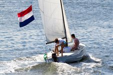 Free Sail, Dinghy Sailing, Sailboat, Water Transportation Stock Photography - 113164682