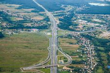 Free Road, Aerial Photography, Highway, Bird S Eye View Stock Image - 113169941