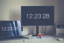 Free Monitor Displaying 12:23:28 Royalty Free Stock Photo - 113232275