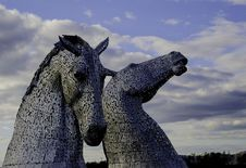 Free Two Gray Horse Statues Stock Photo - 113295060