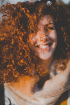 Free Portrait Of Curly Haired Girl Stock Images - 113349604