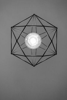 Free Black Metal Framed Pendant Lamp Turned-on Royalty Free Stock Images - 113349719