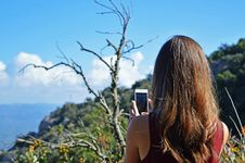Free Photo Of Woman Taking Photo Stock Images - 113416884
