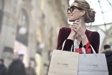 Free Photo Of A Woman Holding Shopping Bags Stock Photo - 113417060