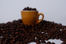 Free Brown Mug Filled With Coffee Beans Royalty Free Stock Photos - 113472758