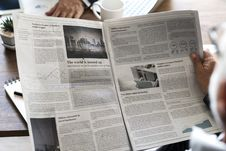 Free Gray Newspaper Royalty Free Stock Photography - 113472807