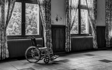 Free Grayscale Photo Of Wheelchair Stock Photo - 113472930