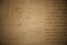 Free Brown Paper With Black Handwritten Texts Stock Photo - 113539830