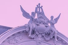 Free Two Angels Ornate Arch Stock Image - 113540001
