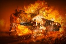 Free Fire, Flame, Explosion, Computer Wallpaper Stock Photo - 113659110