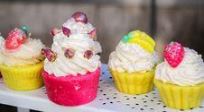 Free Dessert, Whipped Cream, Buttercream, Cupcake Stock Images - 113660244