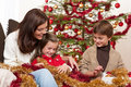 Free Christmas: Mother With Son And Daughter Stock Image - 11372551