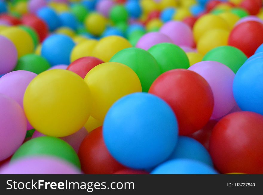 Blue, Ball Pit, Yellow, Easter Egg