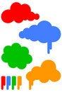 Free Cartoon Cloud Vector Illustration Set Royalty Free Stock Images - 11389479