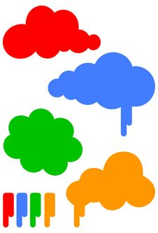 Free Cartoon Cloud Vector Illustration Set Royalty Free Stock Images - 11389479