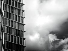 Free Grayscale Photo Of Glass Building Stock Images - 113809064