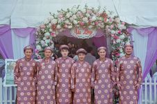 Free Group Of Men Wearing Pink Robes Royalty Free Stock Photos - 113809148