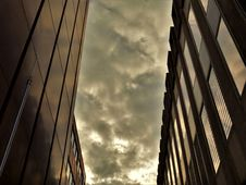 Free Two Black High-rise Buildings Under Gray Cloudy Sky Stock Image - 113809181