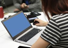 Free Selective Focus Photography Of A Woman Using Laptop Stock Images - 113907784