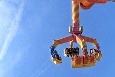 Free Orange And Yellow Carnival Ride-on Royalty Free Stock Photography - 113947487