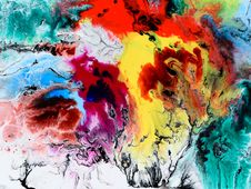 Free Multicolored Abstract Painting Stock Photography - 113947552