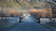 Free Free Road On The Bridge With View Of Mountain Royalty Free Stock Images - 113947569