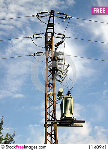 Free Power Pole Stock Image - 1140941