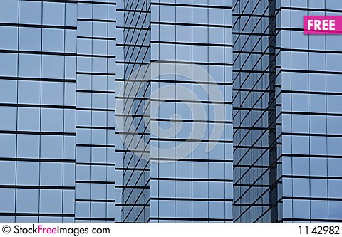 glass exterior modern office. modern office building with glass exterior
