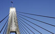 Anzac Bridge Pylon Royalty Free Stock Image