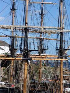 Free Tallship Masts In Port Royalty Free Stock Photo - 1140275