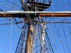 Free Yardarm And Rigging On Tallship Stock Photos - 1140733
