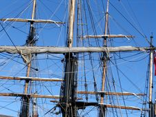 Free Yardarms On Tallship Royalty Free Stock Photos - 1140808