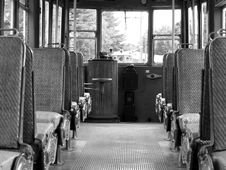 Free Antique Trolley Interior Stock Images - 1141104