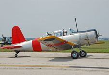 Free Vintade Vultee Trainer Airplane Stock Image - 1142601