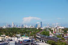 Daytime Skyline View Of Miami Stock Photography