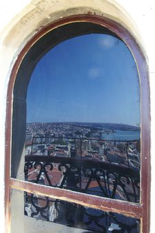 Free Istanbul In The Window-pane Stock Image - 1143261