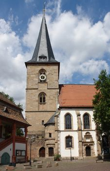 Free Freinsheim Church Royalty Free Stock Photo - 1143295