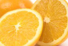 Free Orange Halves Wide Close Royalty Free Stock Image - 1143586