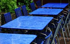Free Blue Tables And Chairs Stock Photo - 1144470