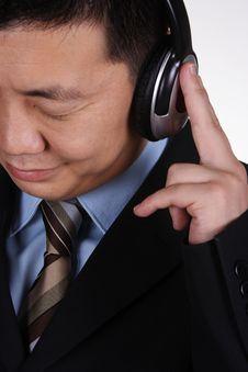 Free Asian Businessman Listening Stock Photos - 1145533