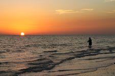 Free Sunset Fisherman Royalty Free Stock Photo - 1146325