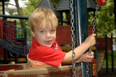 Free Young Boy At Playground Stock Photo - 1146530