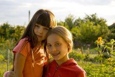 Free Girls On Sunset Royalty Free Stock Photos - 1147148
