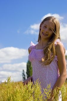 Free Girl On Meadow Royalty Free Stock Photography - 1147267