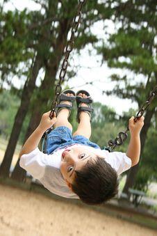 Boy On Swing Royalty Free Stock Photos